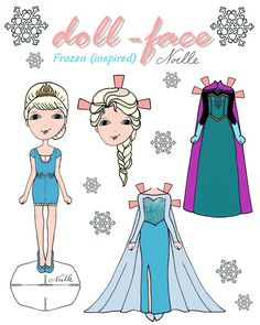 Disney's Frozen inspired Dollface printable by christennoelle