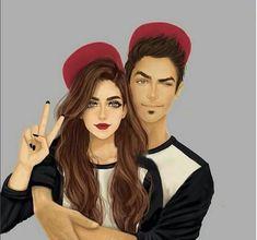 Imagen de girly_m, couple, and art Girly Drawings, Couple Drawings, Anime Couples, Cute Couples, Couples Images, Girly M Instagram, Photo Manga, Sarra Art, Couple Goals Cuddling