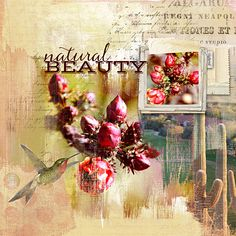 such a gorgeous #painted #scrapbook page by Joanne at #designerdigitals