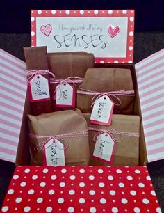 I love you with all of my SENSES- 5 Senses Valentine's Gift for Him