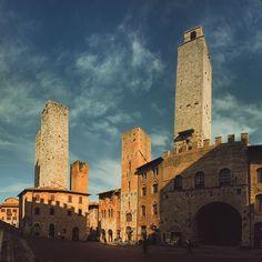 Towers of San Gimignano in Tuscany. Photo by Dmitri Korobtsov.