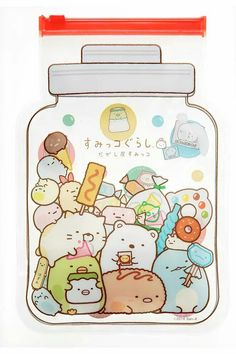 Sumikko Gurashi in a jar. Cute Images, Cute Photos, Cute Pictures, Kawaii Illustration, Japanese Cartoon, Cute Japanese, Kawaii Drawings, Cute Drawings, Kawaii Stickers