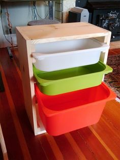 ikea drawers - shelf made at home for them
