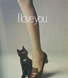 Guy Bourdin , Vogue, 1969  #EddieBorgo #Inspiration #art #cat #woman #design #fashion