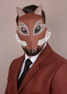 Fox mask paper