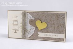 Stampin' up! Wedding card, Einladung zur Hochzeit, Stempelset Perfekter Tag, Stampset Perfect Day, Something Lacy - Fine Paper Arts