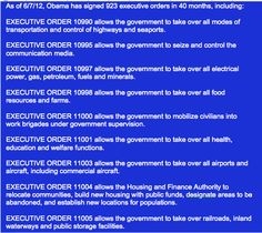 As of June 7, 2012 Obama has signed 923 executive orders in only 40 months! Executive orders by pass congress. Basically like a kingship! Some of them are listed here: