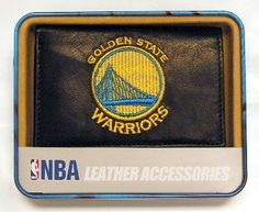Golden State Warriors Embroidered Trifold Wallet by Rico. $24.99. You'll be happy to pickup the tab just to show off this Golden State Warriors Embroidered Trifold Wallet. Made of genuine leather exteriors, withgenuine leather interiorpanels and pockets with turned edges for easystoragefor plastic cards.. Save 29% Off!