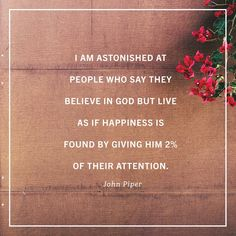 True happiness is found in Christ