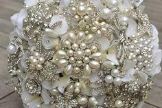 Deposit on a medium pearl heirloom brooch bridal bouquet  by Noaki, $225.00