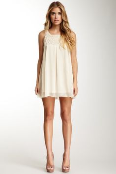 Papillon Rosette Yoke Tank Dress on HauteLook