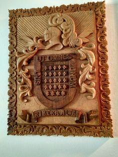 #Escudo #RiberaAlta en #TalladeMadera #woodcarving #shield