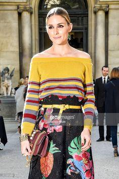 Fotografia de notícias : Olivia Palermo is seen arriving at Valentino...