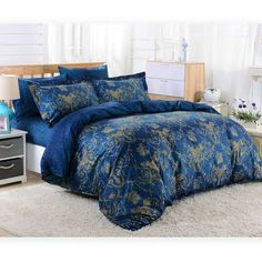 Duvet Cover Sheets Set, Dolce Mela Zakynthos Queen Size Bedding