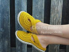 CROCHET PATTERN women twisted strap clogs with rope