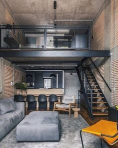 12 Ideas container house design interior inspiration for Minimal Interior Design Inspiration Loft Interior Design, Industrial Interior Design, Loft Design, Home Interior, Interior Architecture, Industrial Loft, Industrial Apartment, Container House Design, Tiny House Design