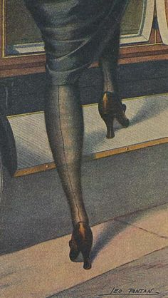 Title unknown (legs) by French painter & illustrator Leo Fontan via hoodoo that voodoo