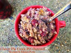 Cherry Pie Crock Pot Oatmeal