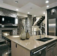 50 Luxury Interior Design Ideas For Your Dream House Interior Design Kitchen Design Dream house Ideas interior Luxury Dream House Interior, Luxury Homes Dream Houses, Dream Home Design, Modern House Design, Modern Mansion Interior, Modern Houses, Dream Homes, Küchen Design, Design Case