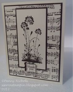 Stampin' Up! Thank You Music Card by mrsscrapper - Cards and Paper Crafts at…