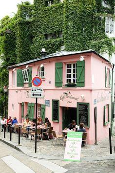 Montmartre - La Maison Rose, Paris (France) - photography by Tyssia Paris France, Oh Paris, Montmartre Paris, Pink Paris, France Cafe, Oh The Places You'll Go, Places To Travel, Places To Visit, Hotel Paris