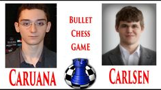 The world champion GM Magnus Carlsen plays a bullet chess against one of the strongest chess players in the world GM Fabiano Caruana. Game played on the internet chess club.