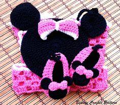Crochet Pattern Purse Miss Bow Mouse , Girl's Crochet Bag Pattern ...