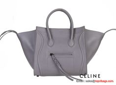 c36ef4e5e6 Celine Luggage Phantom Bags Original Leather 16995 88033 Grey