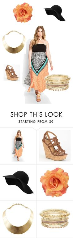 """""""Fun day"""" by george-isaacs ❤ liked on Polyvore featuring Forever 21, Delicious, MANGO, GUESS and plus size dresses"""