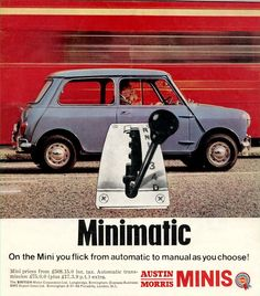 Austin and Morris Mini Automatic advert from 1967