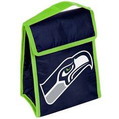 Seattle Seahawks NFL Big Logo Hook & Fasten Lunch Bag