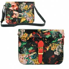 $ 3.76 Women's Retro Oil Painting Pattern synthetic leather Messenger Shoulder Bag