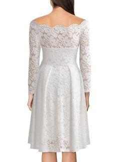Cerra - Vintage Floral Lace Dress