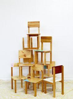 Handmade Kids' Furniture from Objets Mecaniques in Montreal - Remodelista Furniture Ads, Dining Room Furniture, Wood Furniture, Furniture Design, Handmade Kids Furniture, Upcycled Furniture, Restoration Hardware Baby, Slow Design, Childrens Beds