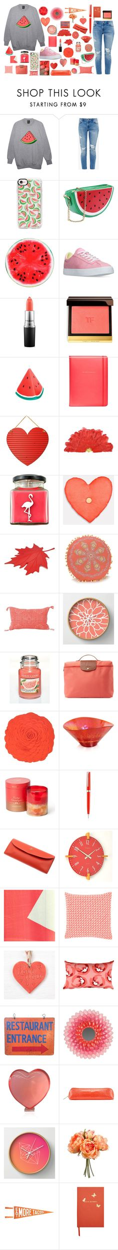"""""""Fruity 🍉🍉"""" by lauralyna ❤ liked on Polyvore featuring Ted Baker, Casetify, Converse, MAC Cosmetics, Tom Ford, Sunnylife, Kate Spade, Flamingo Candles, Qualy and Jessica Simpson"""