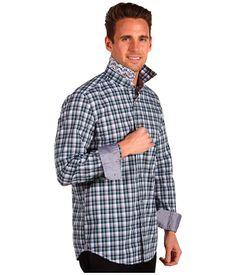 Интересная отделка подворотника рубашки и манжет