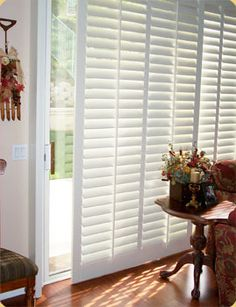 Ideas For Privacy At The Sliding Door   Southwest Shutter Shaque/could Hang  On Sliding Bar