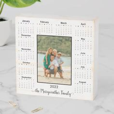 2022 Personalized Name Photo Calendar Wooden Box Sign | Zazzle.com Full Year Calendar, Family Calendar, Photo Calendar, Home Library Decor, Small Gifts For Friends, Name Photo, Box Signs, Custom Boxes, Artwork Design