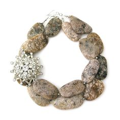 Natural Stone Statement Necklaces, Classic Bride