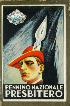 Penno Presbitero. 20th C Italian Pen Nib Packaging. Via Letterology.