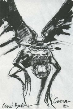 Carna, the winged beast from The Thief of Always.