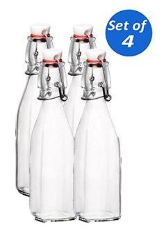 Bormioli Rocco Swing Top Glass Bottles, 8.5 Ounce - Set of 4 Bormioli Rocco http://www.amazon.com/dp/B00TQ9PT2A/ref=cm_sw_r_pi_dp_XlgEwb0A8XF6A