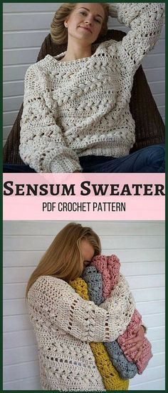 Hermosa Make your own cozy Crochet Sensum Activo! Love the beautiful puff stitch trenzas… Make your own cozy Crochet Sensum Hacedero… La mejor imagen sobre...