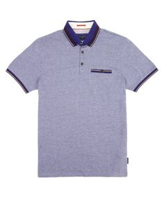 Oxford polo - Purple | Tops & T-Shirts | Ted Baker