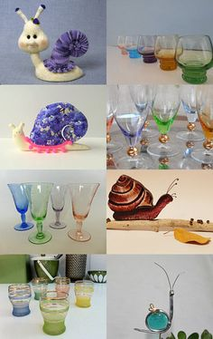 snails with retro glasses by Stuart McWilliam on Etsy--Pinned with TreasuryPin.com
