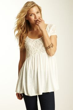 Free People Extreme Babydoll Top