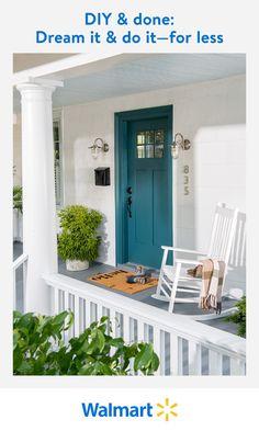 Door Paint Colors, Front Door Colors, Exterior Paint Colors, Exterior House Colors, Paint Colors For Home, Exterior Design, Front Doors, House Front, Front Porch