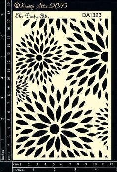 Flower Burst Stencil - The Dusty Attic