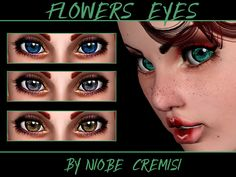 Flowers eyes N.D. by niobe cremisi - Sims 3 Downloads CC Caboodle