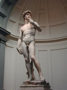 Michelangelo's David in the Accademia Gallery in Florence, Italy is something you must experience in person. Stunning!